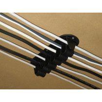 Kabelhållare med ett enkelt klicksystem