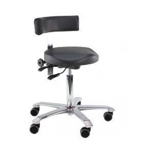 Score Medical 6321 taburett med hjul och ryggstöd
